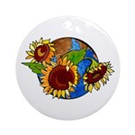 Sunflower Planet Ornament (Round)