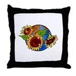 Sunflower Planet Throw Pillow