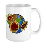 Sunflower Planet Large Mug