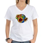 Sunflower Planet Women's V-Neck T-Shirt