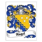 Nagel Family Crest Small Poster