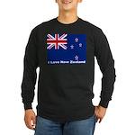 I Love New Zealand Long Sleeve Dark T-Shirt