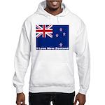 I Love New Zealand Hooded Sweatshirt