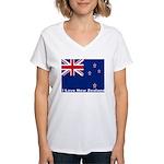 I Love New Zealand Women's V-Neck T-Shirt