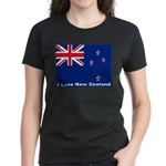 I Love New Zealand Women's Dark T-Shirt