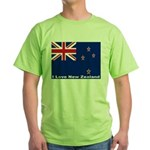 I Love New Zealand Green T-Shirt