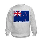 I Love New Zealand Kids Sweatshirt