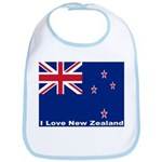 I Love New Zealand Bib