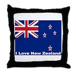I Love New Zealand Throw Pillow