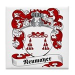 Neumayer Family Crest Tile Coaster