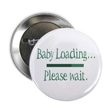 "Green Baby Loading Please Wait 2.25"" Button (100 p"