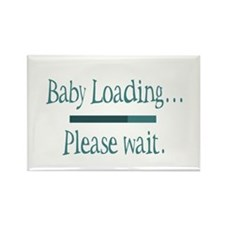 Blue Baby Loading Please Wait Rectangle Magnet (10