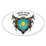 Proud to be Kazakh Oval Decal