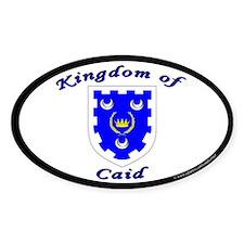Kingdom of Caid Oval Sticker