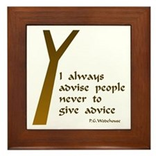 Wodehouse Advice Framed Tile