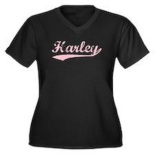 Vintage Harley (Pink) Women's Plus Size V-Neck Dar
