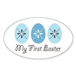 My First Easter Oval Sticker