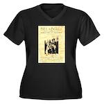 Bill and Bull Women's Plus Size V-Neck Dark T-Shir