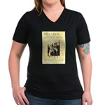 Bill and Bull Women's V-Neck Dark T-Shirt