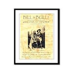 Bill and Bull Framed Panel Print