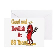 Devilish at 89 Greeting Card