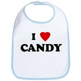 I Love CANDY Bib