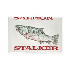 salmon stalker Rectangle Magnet