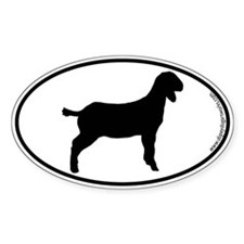 Goat SILHOUETTE Oval Decal