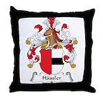 Hausler Family Crest Throw Pillow