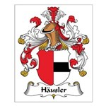 Hausler Family Crest Small Poster