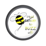 CANCER BUZZ OFF Wall Clock