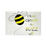 CANCER BUZZ OFF Rectangle Magnet (100 pack)