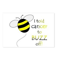 CANCER BUZZ OFF Postcards (Package of 8)