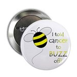 "CANCER BUZZ OFF 2.25"" Button (10 pack)"