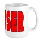 Scouser in Red w/ Black Coffee Mug