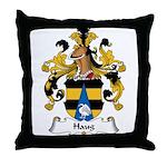 Haug Family Crest Throw Pillow