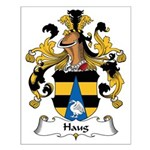 Haug Family Crest Small Poster