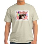 LOVE MY BOSTON TERRIER Ash Grey T-Shirt