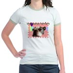 LOVE MY BOSTON TERRIER Jr. Ringer T-Shirt