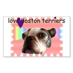 LOVE MY BOSTON TERRIER Rectangle Sticker