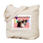 LOVE MY BOSTON TERRIER  Tote Bag -- view back