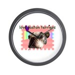 LOVE MY BOSTON TERRIER Wall Clock