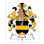 Hauff Family Crest Small Poster