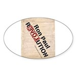 Ron Paul Constitution Oval Sticker (10 pk)
