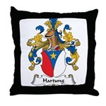 Hartung Family Crest Throw Pillow