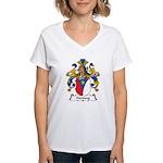 Hartung Family Crest Women's V-Neck T-Shirt