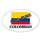 100 Percent COLOMBIAN Oval Decal