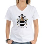 Harras Family Crest Women's V-Neck T-Shirt