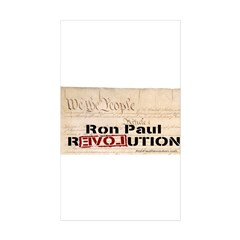 Ron Paul Preamble-C Rectangle Sticker 10 pk)
