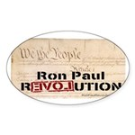 Ron Paul Preamble-C Oval Sticker (10 pk)